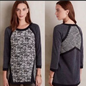 Anthropologie Harlyn Mixed Media Sweater